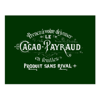 Cacao - anuncio de Payraud Postal