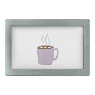 Cacao caliente hebillas cinturón rectangulares