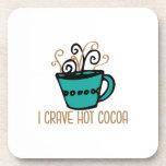 Cacao caliente posavasos de bebidas