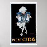 Cacao Cida Vintage Food Ad Art Print