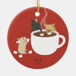Cacao de Frenchie Ornaments Para Arbol De Navidad