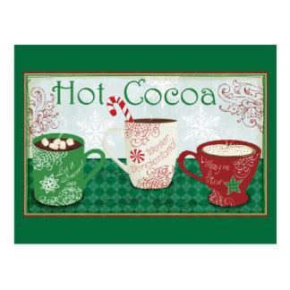 Cacao del invierno postales