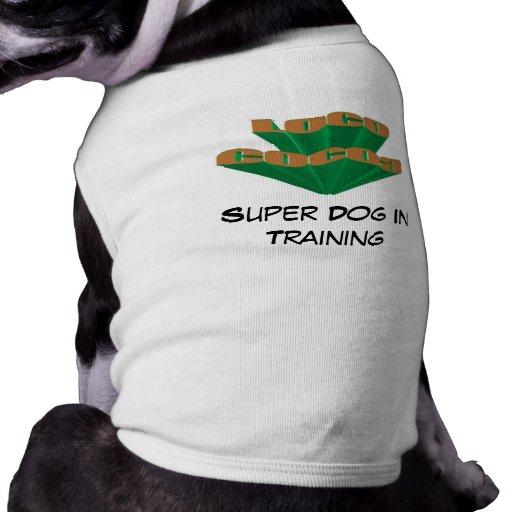 Cacao del loco camisas de mascota