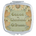 Cacao en Chocolaad Art Nouveau Compact Mirrors