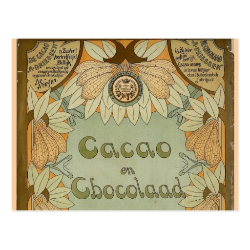 Cacao en Chocolaad Dutch Chocolate 1900 Post Cards
