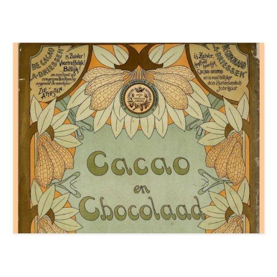 Cacao en Chocolaad Dutch Chocolate 1900 Postcard