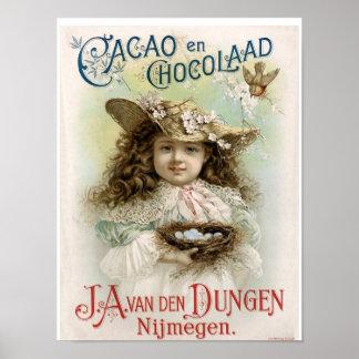 Cacao en Chocolaad Vintage Ad - Print