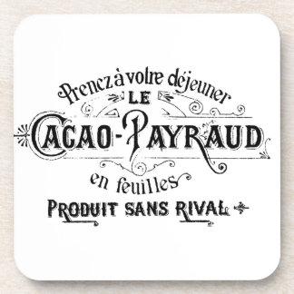 Cacao francés del vintage - anuncio de Payraud Posavasos De Bebida