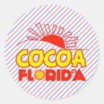 Cacao, la Florida Pegatinas Redondas