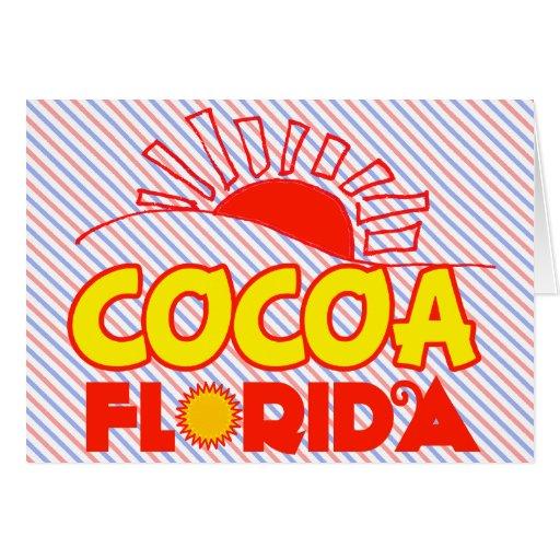 Cacao, la Florida Tarjeta De Felicitación