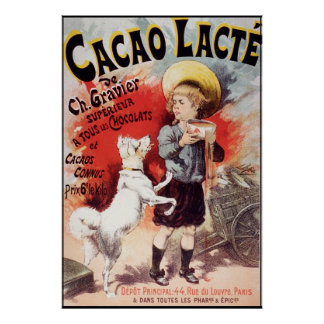 Cacao Lacte de Lucien Lefevre Póster
