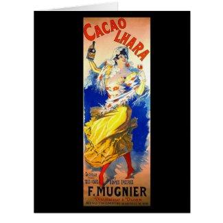 Cacao Liqueur Ad 1889 Card
