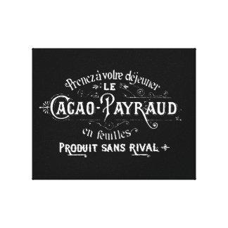 Cacao Payraud Ad Canvas Print
