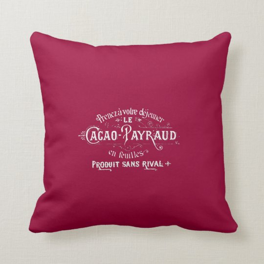 Cacao - Payraud Ad Throw Pillow
