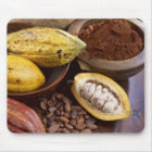 Cacao pod containing cacao beans which are mouse pad