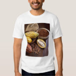 Cacao pod containing cacao beans which are tee shirt