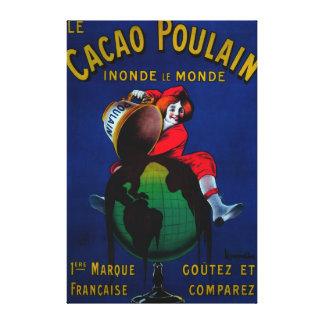 Cacao Poulain Vintage PosterEurope Canvas Print