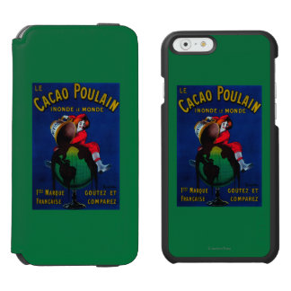Cacao Poulain Vintage PosterEurope iPhone 6/6s Wallet Case