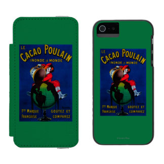 Cacao Poulain Vintage PosterEurope iPhone SE/5/5s Wallet Case