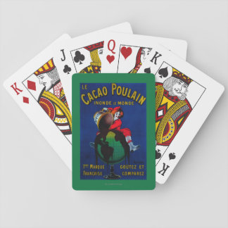 Cacao Poulain Vintage PosterEurope Playing Cards