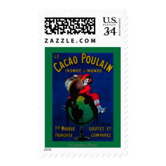 Cacao Poulain Vintage PosterEurope Postage