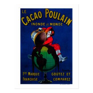 Cacao Poulain Vintage PosterEurope Postcard