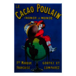 Cacao Poulain Vintage PosterEurope Posters