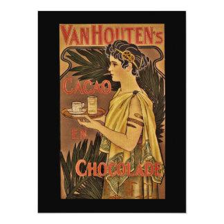 """Cacao y Chocolade VanHouten Invitación 5.5"""" X 7.5"""""""
