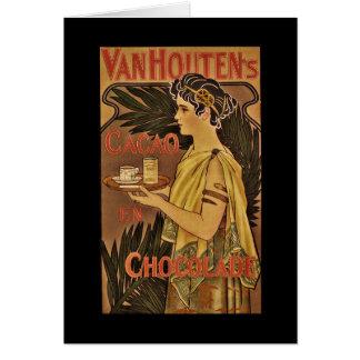 Cacao y Chocolade VanHouten Tarjeta De Felicitación