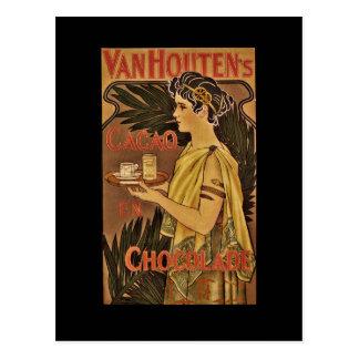 Cacao y Chocolade VanHouten Tarjetas Postales