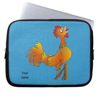 Cacareo del gallo funda computadora
