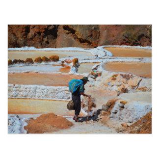 Cacerolas de la sal de Maras, Perú Tarjeta Postal