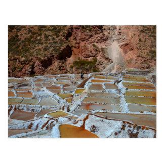 Cacerolas de la sal de Maras, Perú Tarjetas Postales