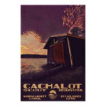 Cachalot Small WPA-Style Poster