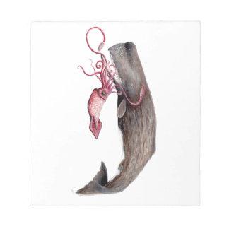 Cachalote and calamary notepad