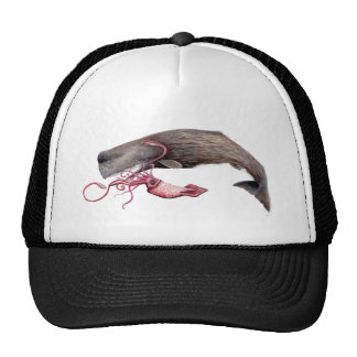 Cachalote and calamary trucker hat