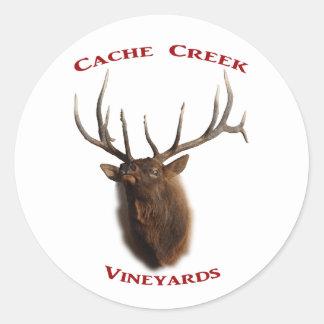 Cache Creek Vineyards Round Stickers