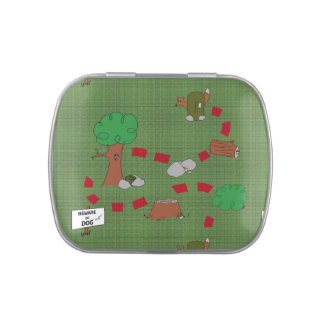 Cache Map Tin Jelly Belly Candy Tin