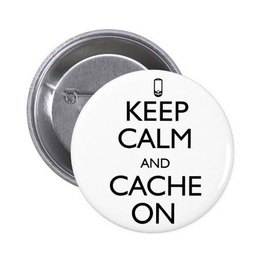 Cache On 2 Inch Round Button