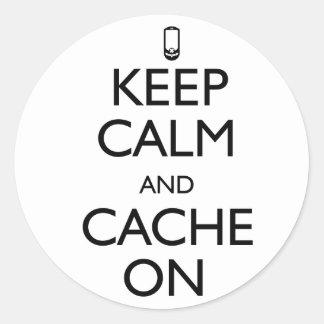 Cache On Classic Round Sticker