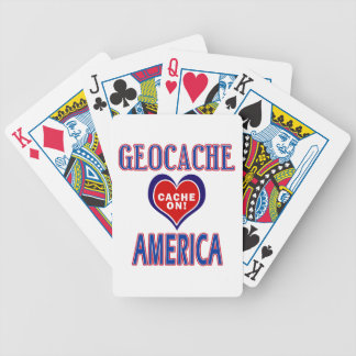 CACHE ON! GEOCACHE AMERICA! BICYCLE PLAYING CARDS