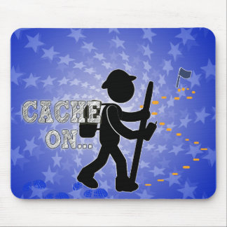 CACHE ON! GEOCACHER MOUSE PAD