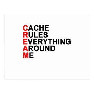 Cache Rules Everything Around Me CREAM T-Shirt.png Postcard