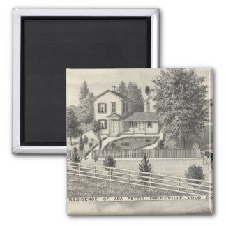 Cacheville res, Madison mill 2 Inch Square Magnet