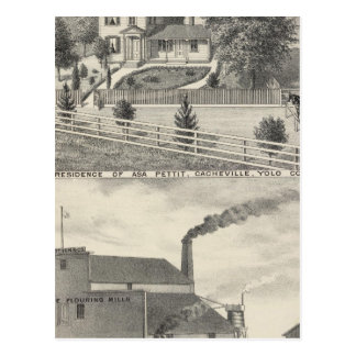 Cacheville res, Madison mill Postcard