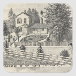 Cacheville res, Madison mill Square Sticker