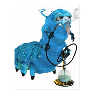Cachimba que fuma Catterpillar azul Postal