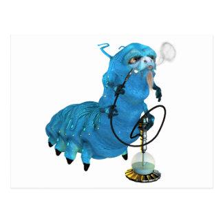 Cachimba que fuma Catterpillar azul Tarjeta Postal