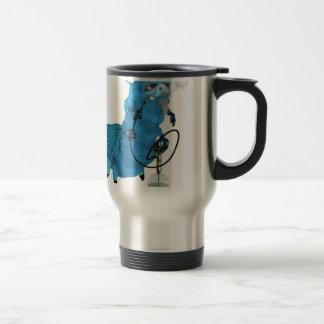 Cachimba que fuma Catterpillar azul Taza De Café
