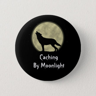 Caching By Moonlight Geocaching Swag Pin